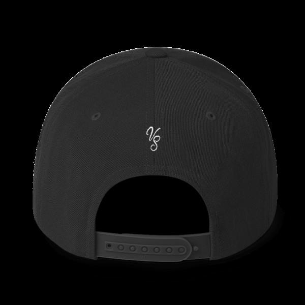 Vue arrière casquette Snapback Voyage au Sahara, couleur noire