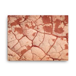 Toile photo sol aride désert Tadrart Rouge