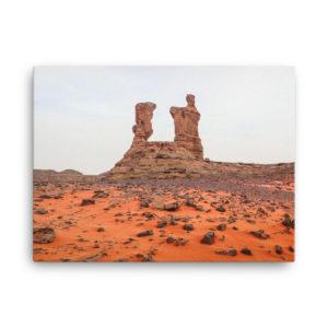 Toile photo désert en Algérie Tadrart Rouge