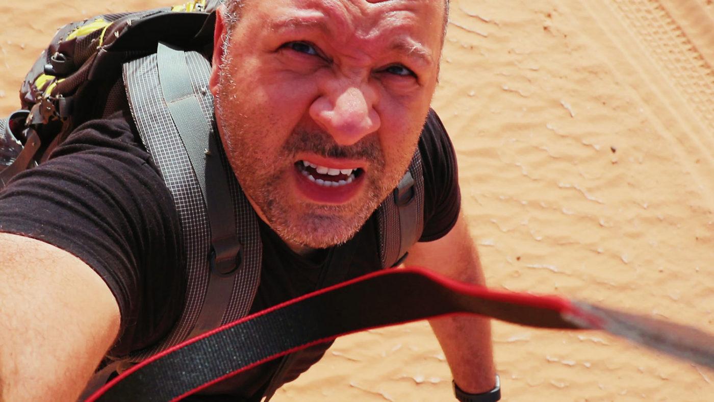 Perdu dans le désert du Sahara en Algérie